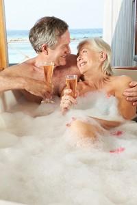 Older Couple in Bathtub