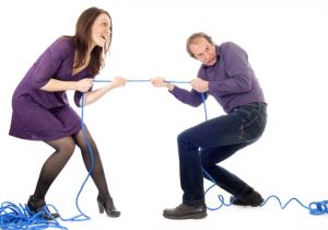 Couple - relationship tug of war
